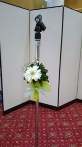 マイク用装花